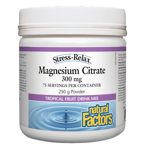 Natural Factors Magnesium Citrate 300 mg 250 gram powder