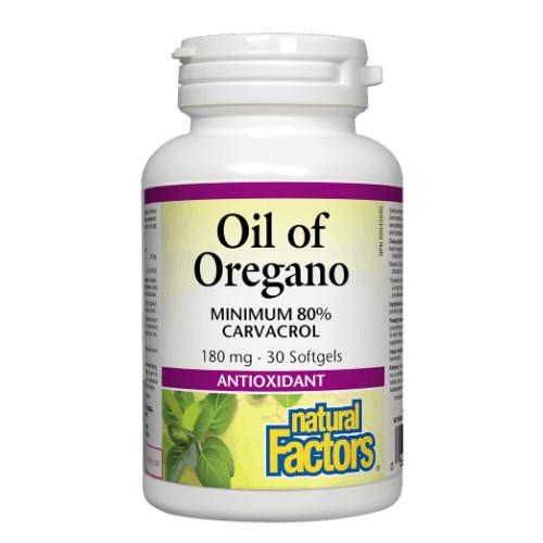 Natural Factors Oil of Oregano 30 softgels Canada