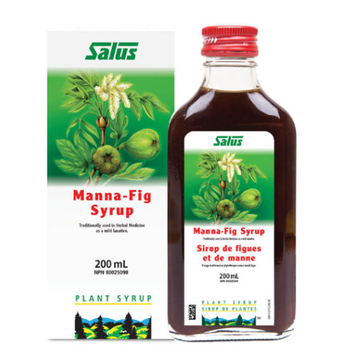 Flora Salus Manna-Fig Syrup in 200 ml bottle.