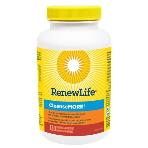 Renew Life CleanseMORE 120 vegetable capsules. NEW LOOK