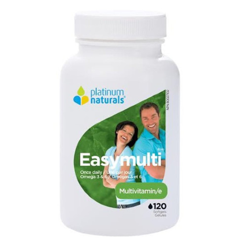 Platinum Naturals EasyMulti Multivitamins Once Daily 120 softgels