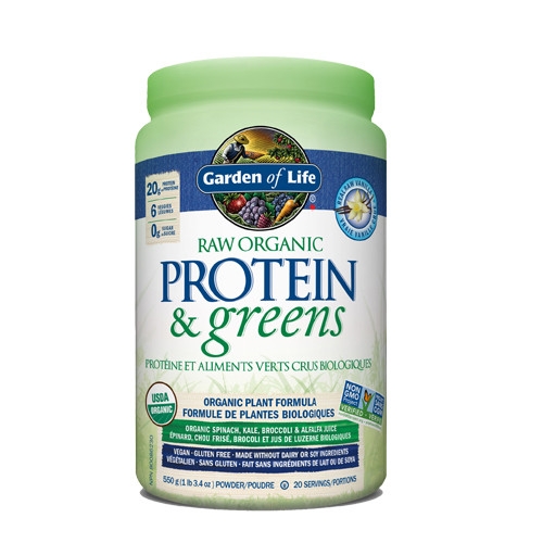 Garden of Life Raw Organic Protein & Greens Vanilla 550 grams