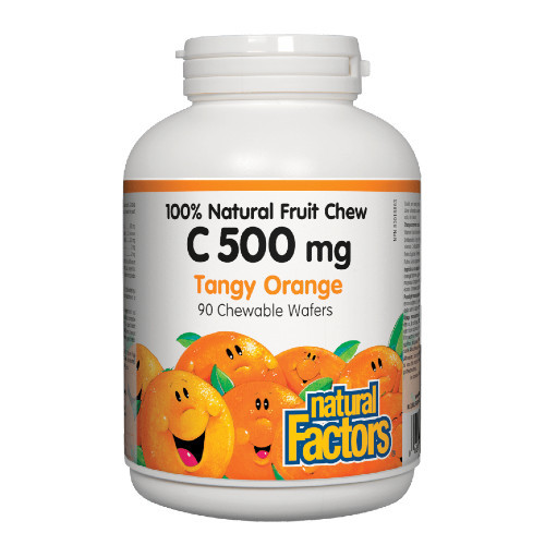 Natural Factors 100% Vitamin C Tangy Orange chewable 90 wafers