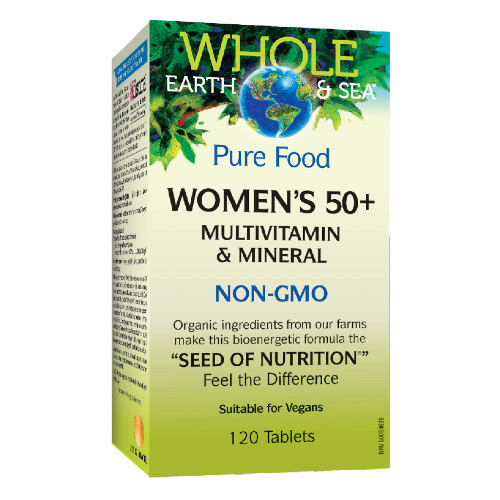 Natural Factors Whole Earth & Sea Women's 50+ Multivitamin and Mineral 120 tablets Canada