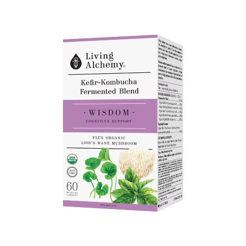 Living Alchemy Wisdom plus Organic Lion's Mane Mushroom 60 pullulan capsules