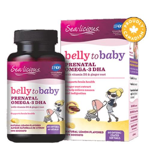 Sea-Licious Belly to Baby Prenatal Omega-3 DHA 60 softgles