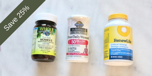 GNN Women's Bundle 30 days of supplement health pac