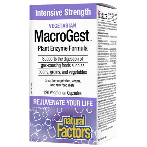 Naturals Factors Intensive Strength Vegetarian MacroGest Plant Enzyme Formula 120 vegetarian capsules