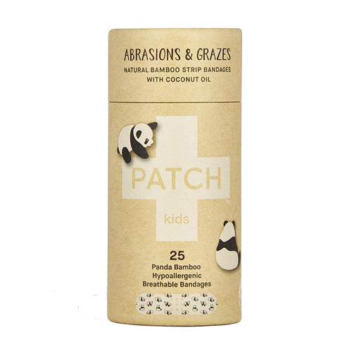 Patch Coconut Oil Kids Adhesive bandages 25 panda bamboo bandages