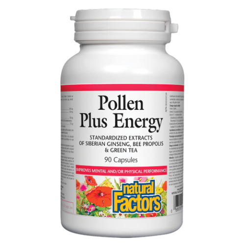 Natural Factors Pollen Plus Energy improves both mental and physical performance with the power of the bee!  90 capsules per bottle.