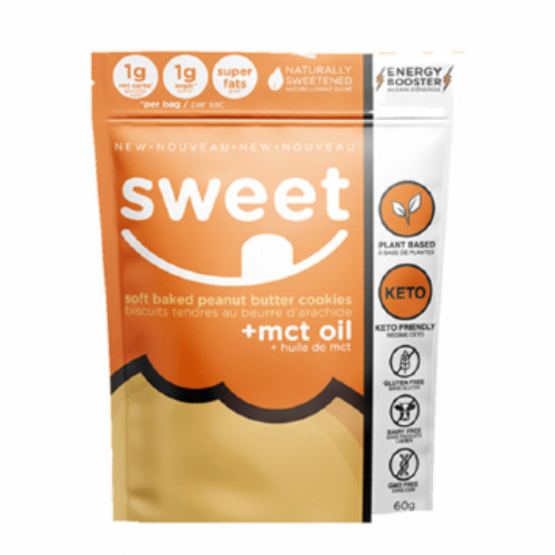 Sweet Nutrition Soft Baked Peanut Butter Cookies + Mct Oil 60 grams