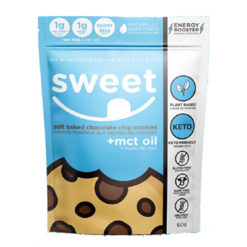Sweet Nutrition Soft Baked Chocolate Chip Cookies + MCT Oil 60 grams