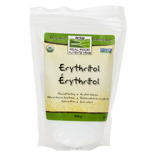 NOW Organic Erythritol natural sugar substitute 454 grams Canada