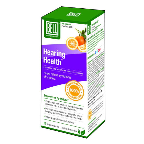 Bell Lifestyle Hearing Health for hearing loss, tinnitus.  60 capsules