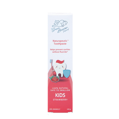 Green Beaver Company Naturapeutic Toothpaste for Kids, Strawberry flavour, 100 grams