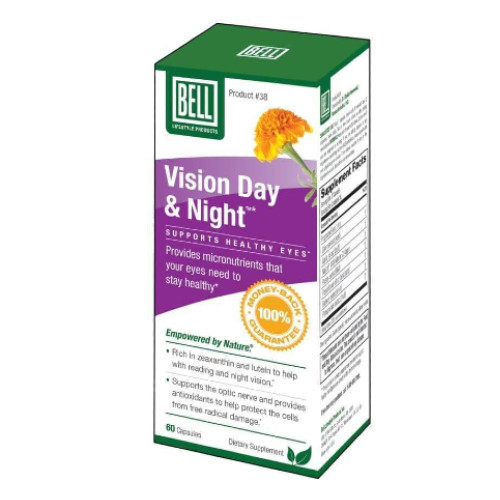 Bell Lifestyle Products Vision Day & Night for eye health.  60 veggie caps