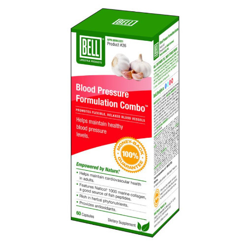 Bell Lifestyle Blood Pressure Formulation Combo Canada 60 caps