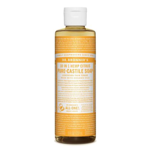 Dr. Bronner's 18-in-1 Citrus Pure Castile Soap 237ml