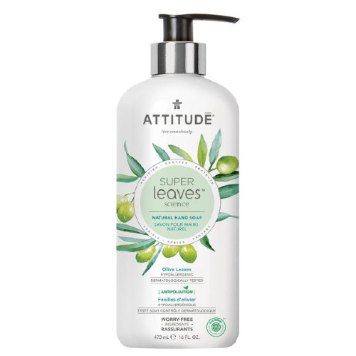 Attitude Super Leaves Science  Olive Leaves Natural Hand Soap 473 ml Canada