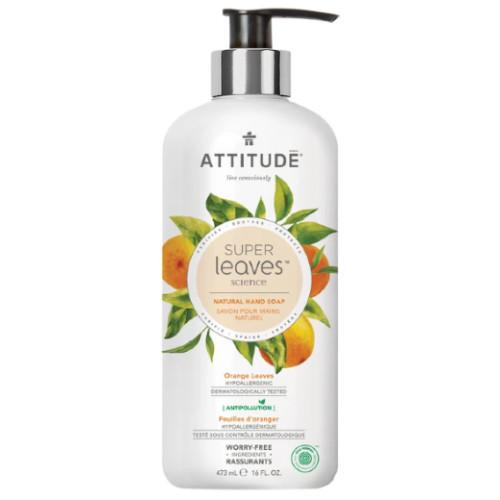 Attitude Super Leaves Science  Orange Leaves Natural Hand Soap 473 ml Canada