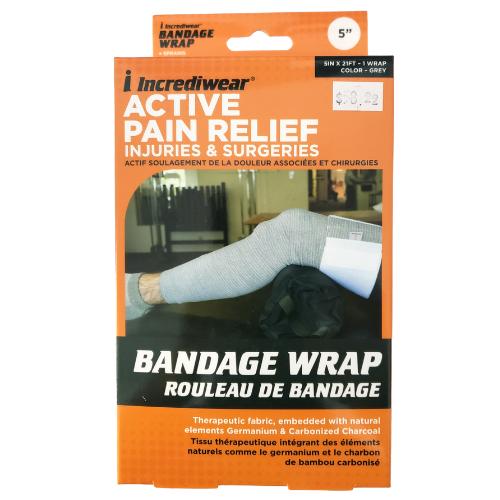 Incrediwear Bandage Wrap 5 inch width, Grey Colour
