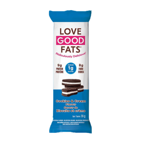 Love Good Fats - Cookies & Cream Flavour Snack Bar New Look