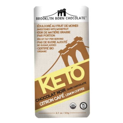 Brooklyn Born Keto Lemon Coffee Dark Chocolate bar