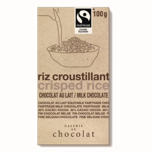 Galerie Au Chocolat Crisped Rice Milk Chocolate 100 grams