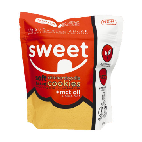 Sweet Nutrition Soft Baked Snickerdoodles Cookies + Mct Oil 60 grams