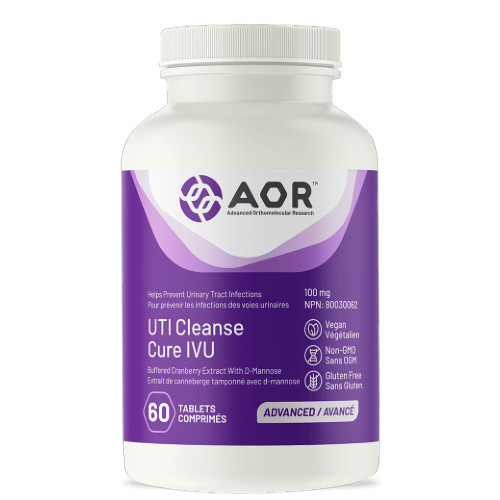 AOR UTI Cleanse is a supplement that helps to prevent and fight off urinary tract infections. 60 Capsules