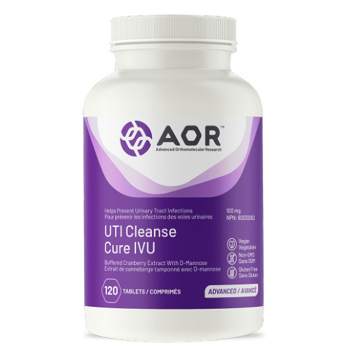 AOR UTI Cleanse is a supplement that helps to prevent and fight off urinary tract infections. 120 Capsules