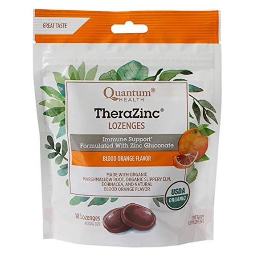 Quantum Health Blood Orange Flavour TheraZinc Immune Support Lozenges 18 lozenges Canada
