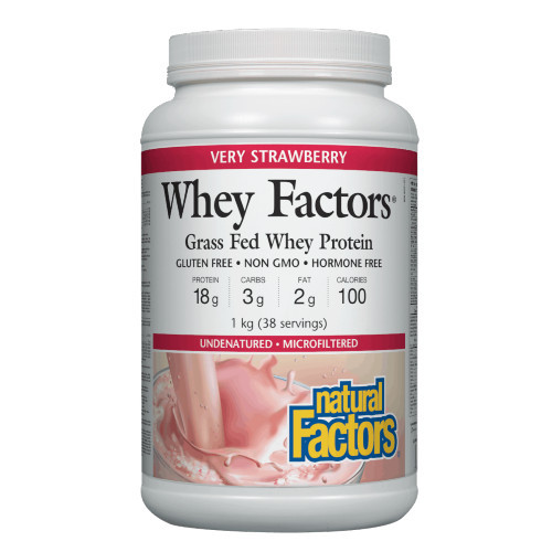 Whey Factors Grass Fed Whey Protein. Strawberry