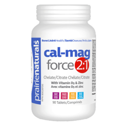 Prairie Naturals Cal-Mag 2:1 Force 90 tablets