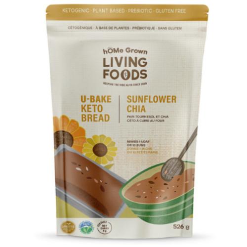 hOME Grown Living Foods Ketogenic bread! U-Bake Sunflower Chia Bread & Buns