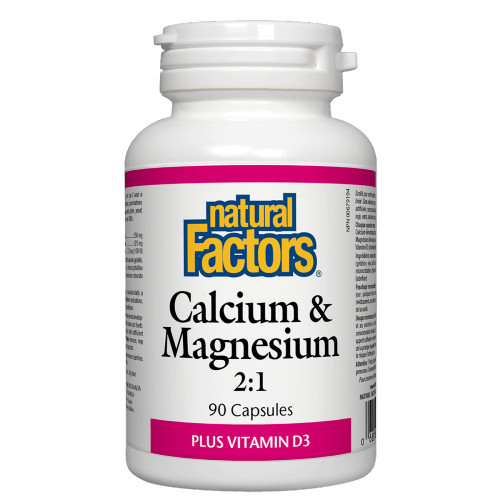 Natural Factors Calcium & Magnesium 2:1 Plus Vitamin D3 90 caps