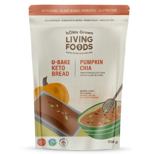 hOME Grown Living Foods Ketogenic bread! U-Bake Pumpkin Chia Bread & Buns