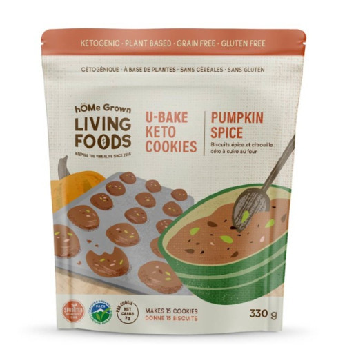 hOMe Grown Living Foods Keto U-Bake Pumpkin Spice Cookie Mix 330 grams