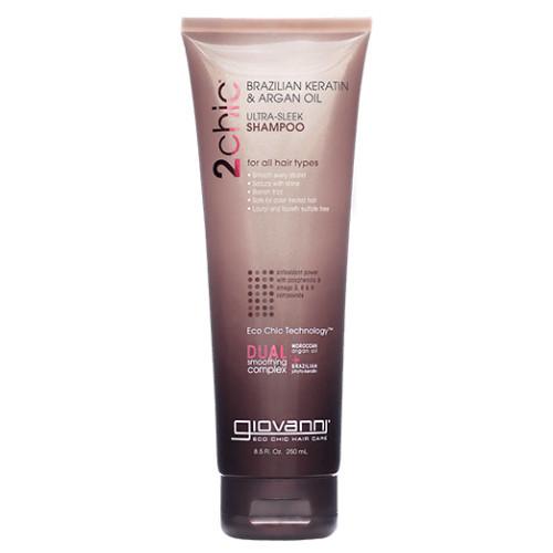 Giovanni 2chic Ultra-Sleek Shampoo Brazilian Keratin & Argan Oil 250 ml