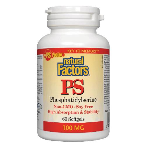 Natural Factors PS Phosphatidylserine  60 softgels Canada