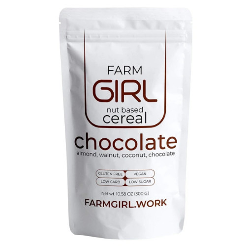 Farm Girl Chocolate Nut Based Cereal Canada. With almonds, walnuts, coconut, chocolate