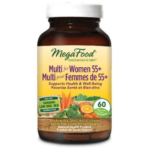 MegaFood Womens 55+ Multivitamin provides an abundant source of vitamins. 60 tablets