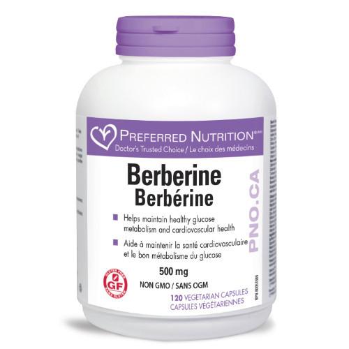 Preferred Nutrition Berberine 120 caps Canada