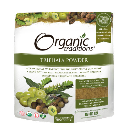 Organic Traditions Triphala Powder 200 grams