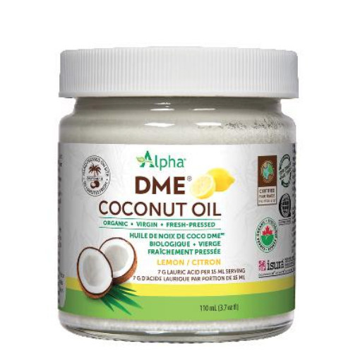 Alpha Organic DME Coconut Oil Lemon Flavour 110 ml
