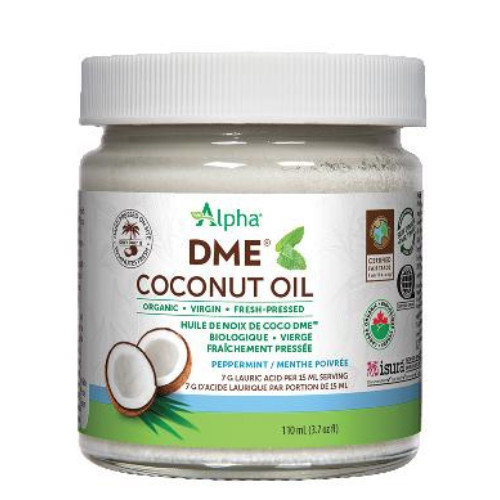 Alpha Organic DME Coconut Oil Peppermint Flavour 110 ml