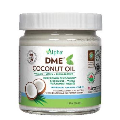 Alpha Organic DME Coconut Oil Peppermint Flavour 110 ml