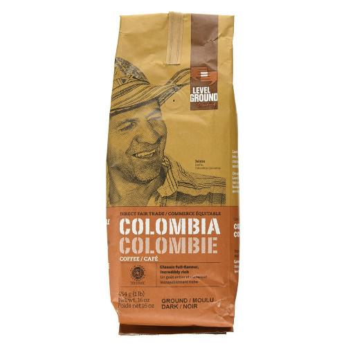 Level Ground Trading Colombia Dark Roast Ground Coffee Beans