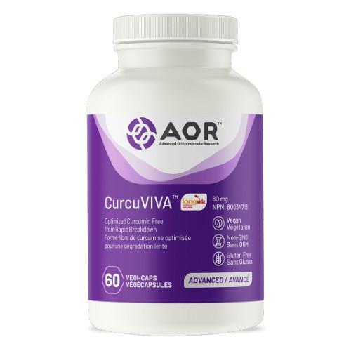 AOR CurcuVIVA Optimized Curcumin i60 veg capsules