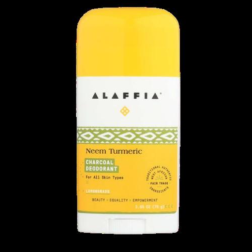 Alaffia Neem Turmeric Charcoal Deodorant Mandarin Orange 75 grams